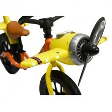 """Беговел 12"""" Самолет желтый"""