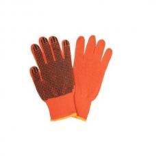 Перчатки рабочие, оранжевые с ПВХ