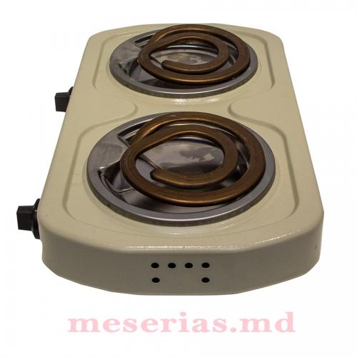 Электроплита 2 кВт 2 конфорки Лемира белая