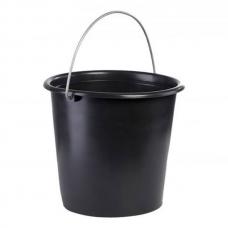 Ведро пластиковое 10 л, черное Лемира