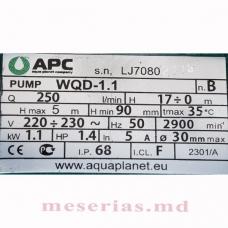 Дренажно-фекальный насос APC WQD 1.1 кВт