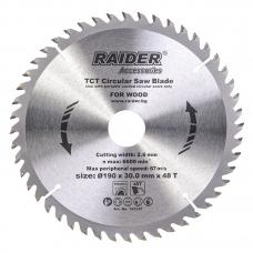 Пильный диск по дереву 190x48Tx30.0мм Raider 163147
