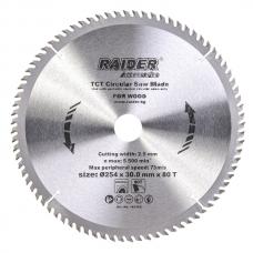 Пильный диск по дереву 254x80Tx30.0мм Raider 163152