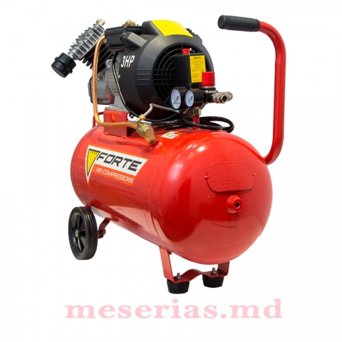 Компрессор 50 литров Forte VFL-50, 2 цилиндра