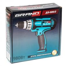 Сетевой шуруповерт 0.98 кВт Grand ДЭ-980/2
