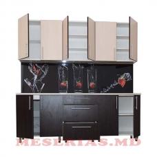 Bucătărie wenghe/stejar DS 2.2/3 220 cm