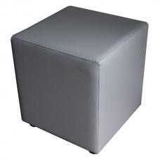 Мягкий стул Пуф квадратный серый