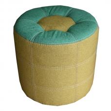 Мягкий стул Пуф круглый желтый-зеленый