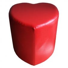 Мягкий стул Пуф сердце красный