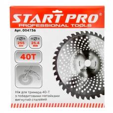 Нож для мотокосы 40T c победитовыми напайками Start Pro 4736