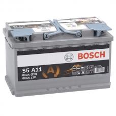 Аккумулятор 12V 80AH 800A Bosch S5 A11 AGM 0092S5A110