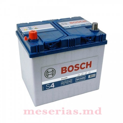 Аккумулятор 12V 60AH 540A Bosch S4 Silver 0092S40250