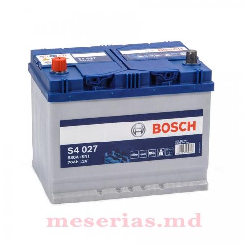 Аккумулятор 12V 70AH 630A Bosch S4 Silver 0092S40270