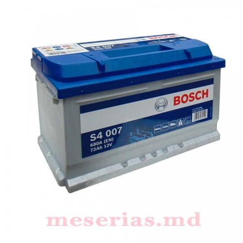 Аккумулятор 12V 72AH 680A Bosch S4 Silver 0092S40070