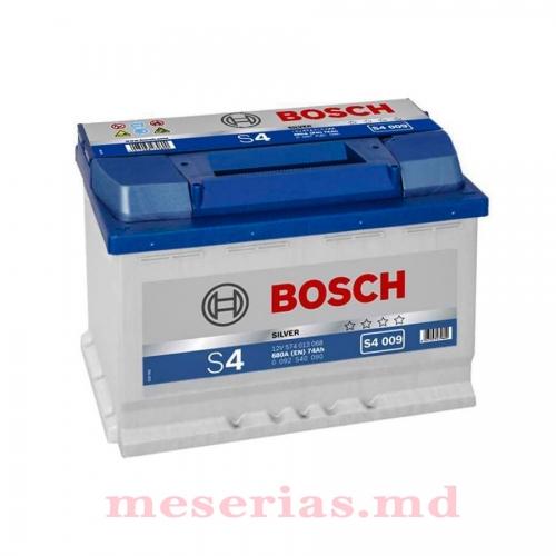 Аккумулятор 12V 74AH 680A Bosch S4 Silver 0092S40090