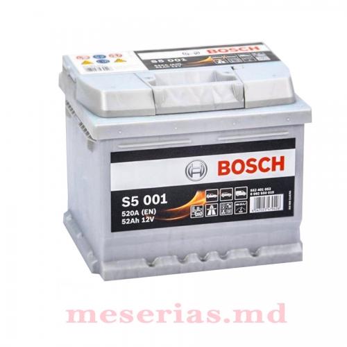 Аккумулятор 12V 52AH 520A Bosch S5 Silver Plus 0092S50010