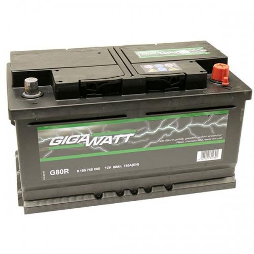 Аккумулятор 12V 80AH 740A GigaWatt 0185758006 S4 010