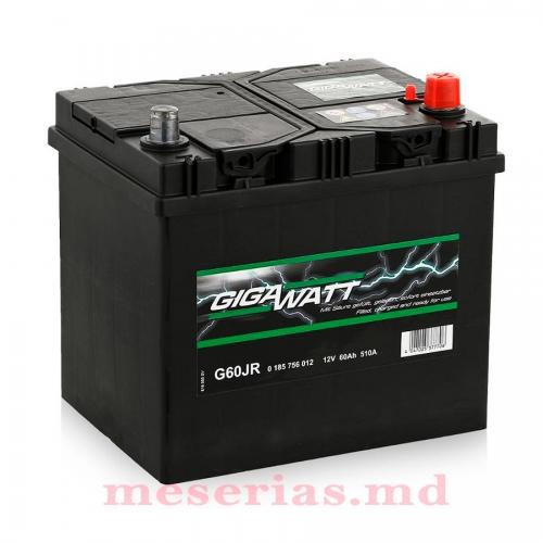 Аккумулятор 12V 60AH 510A GigaWatt 0185756012 S4 024