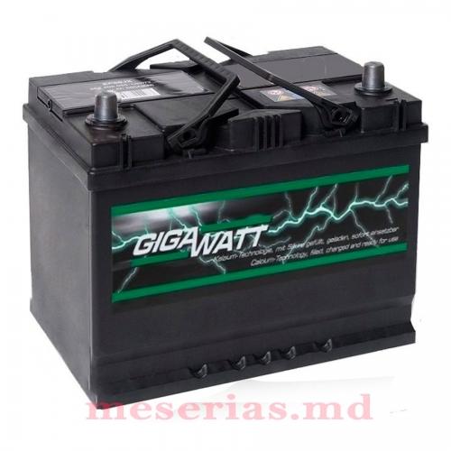 Аккумулятор 12V 68AH 550A GigaWatt 0185756804 S4 026