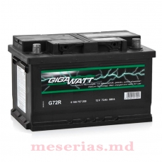 Аккумулятор 12V 72AH 680A GigaWatt 0185757209 S4 007