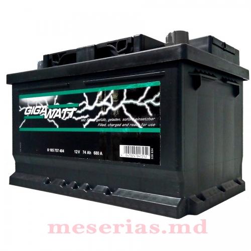 Аккумулятор 12V 74AH 680A GigaWatt 0185757404 S4 008