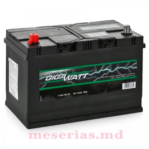 Аккумулятор 12V 91AH 740A GigaWatt 0185759101 S4 029