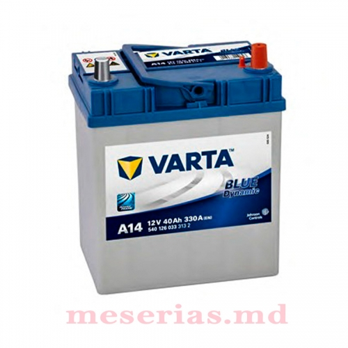 Аккумулятор 12 V 40AH 330A Varta Blue Dynamic 540 126 033