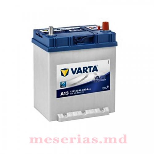 Аккумулятор 12 V 40AH 330A Varta Blue Dynamic 540 125 033 + борт