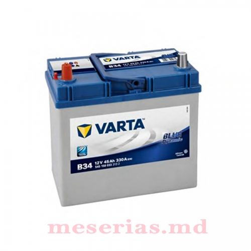 Аккумулятор 12 V 45AH 330A Varta Blue Dynamic 545 155 033 тонкая клема