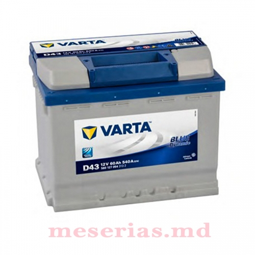 Аккумулятор 12V 60AH 540A Varta Blue Dynamic 560 127 054