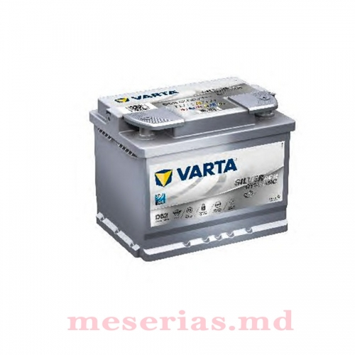 Аккумулятор 12V 60AH 680A Varta Silver Dynamic AGM 560 901 068
