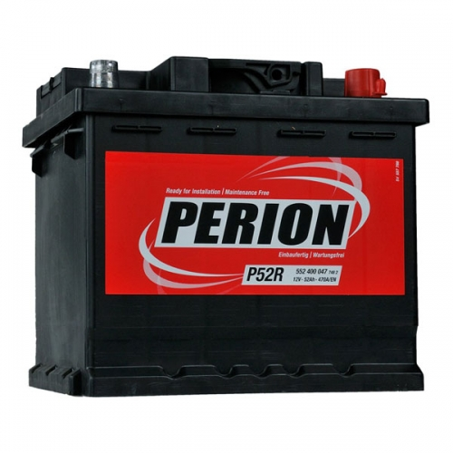 Аккумулятор 12V 52AH 470A PERION S4 002