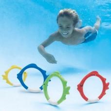 Кольца для подводной игры Рыбки, 4 цвета