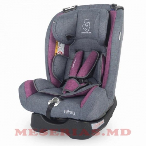 Автокресло детское 0-36 kg MamaLove Infinity фиолетовое