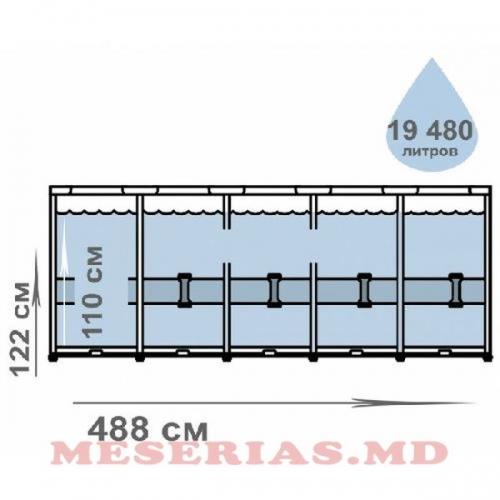 Бассейн 19156 л 488x122cм Ultra XTR Frame Intex