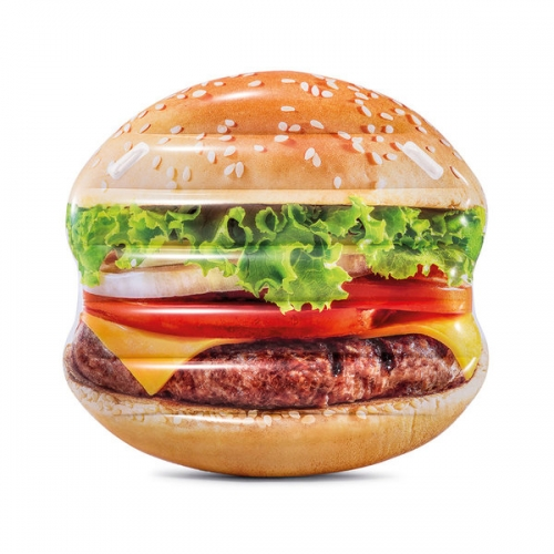 Матрас надувной Гамбургер 135x127x23cm Intex