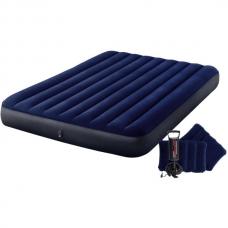 Матрас надувной VELUR 152×203×25cm насос + 2 подушки, Classic
