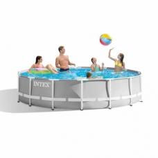 Бассейн 6503л 366х76см Intex Metal Frame Pool