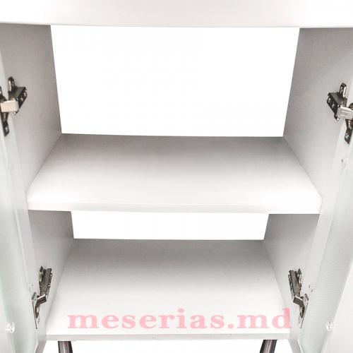 Шкаф для ванной Clasic 55 см двери стекло HFL 550
