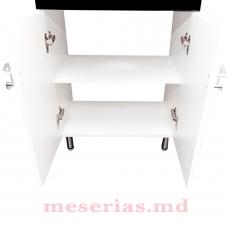 Mobilier de baie Modern Black 55 cm cu lavoar HFL 550