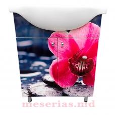 Mobilier de baie Pink Gerbera 65 cm cu lavoar KF 4065