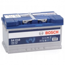 Аккумулятор 12V 75AH 730A(EN) Bosch S4 010 EFB(AGM-) 0092S4E100