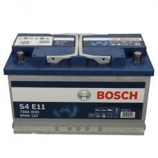 Аккумулятор 12V 80AH 800A(EN) Bosch S4 E11 EFB(AGM-) 0092S4E111