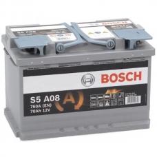 Аккумулятор 12V 70AH 760A(EN) Bosch S5 008 AGM 0092S5A080