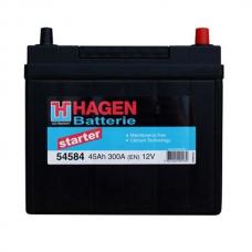Аккумулятор 12V 45Ah 300A Hagen 54584 Starter