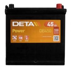 Аккумулятор 12V 45Ah 330A Deta DB450 Power