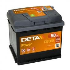 Аккумулятор 12V 50Ah 450A Deta DB500 Power
