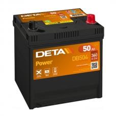 Аккумулятор 12V 50Ah 360A Deta DB504 Power