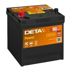 Аккумулятор 12V 50Ah 360A Deta DB505 Power