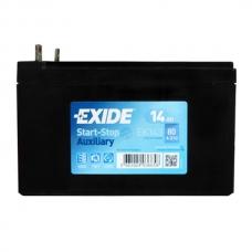 Аккумулятор 12V 14Ah 80A Exide DK143 Start&Stop Вспомогательный